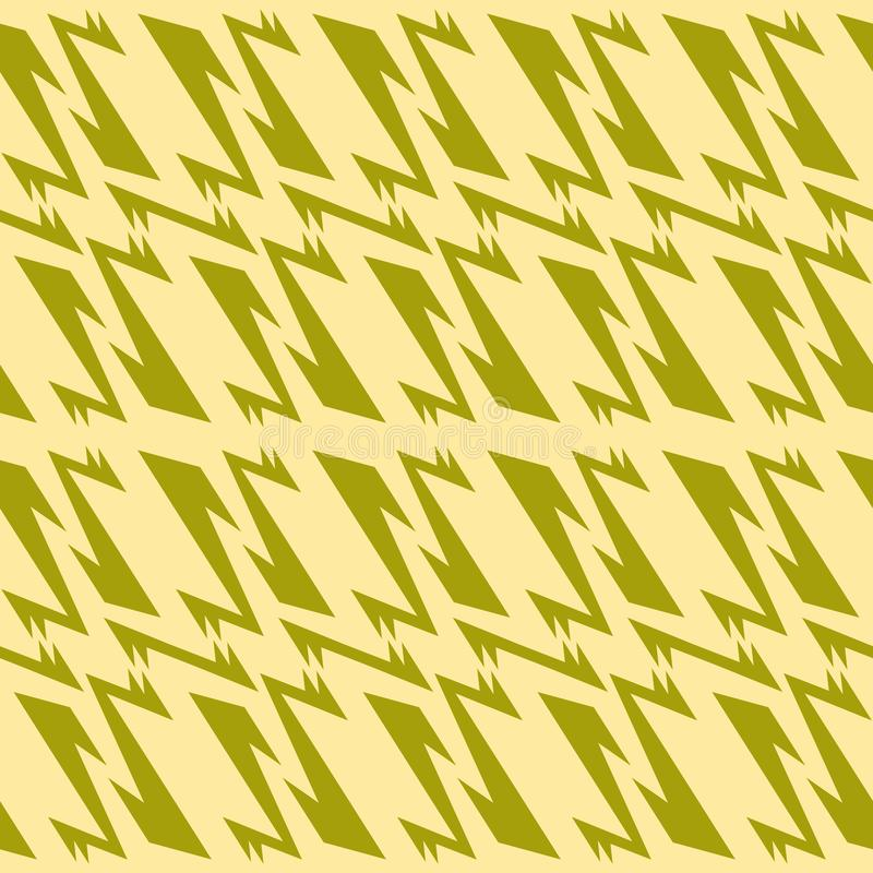 Seamless geometric pattern olive green and muted yellow colors royalty free illustration