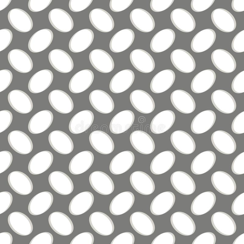 Seamless geometric pattern, perforated metal grill on gray royalty free illustration