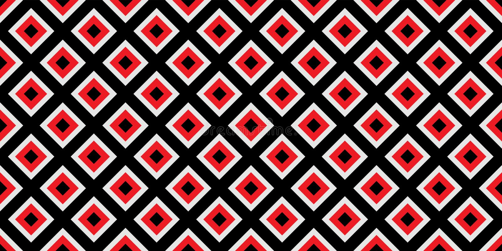 Seamless geometric pattern. Red and black colors are Modern casual colors royalty free illustration