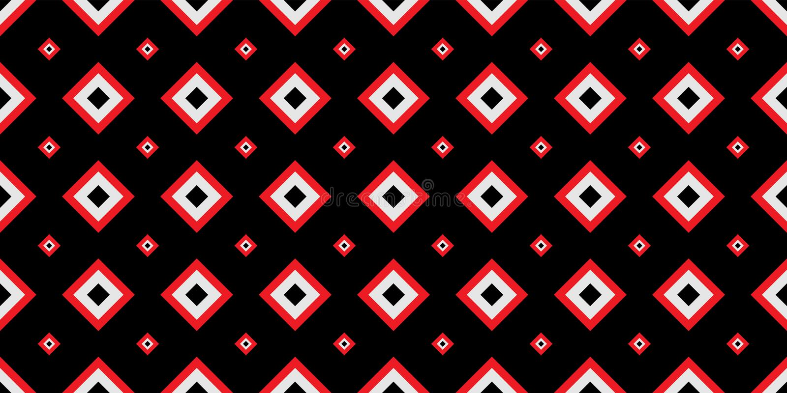 Seamless geometric pattern. Red and black colors are Modern casual colors vector illustration
