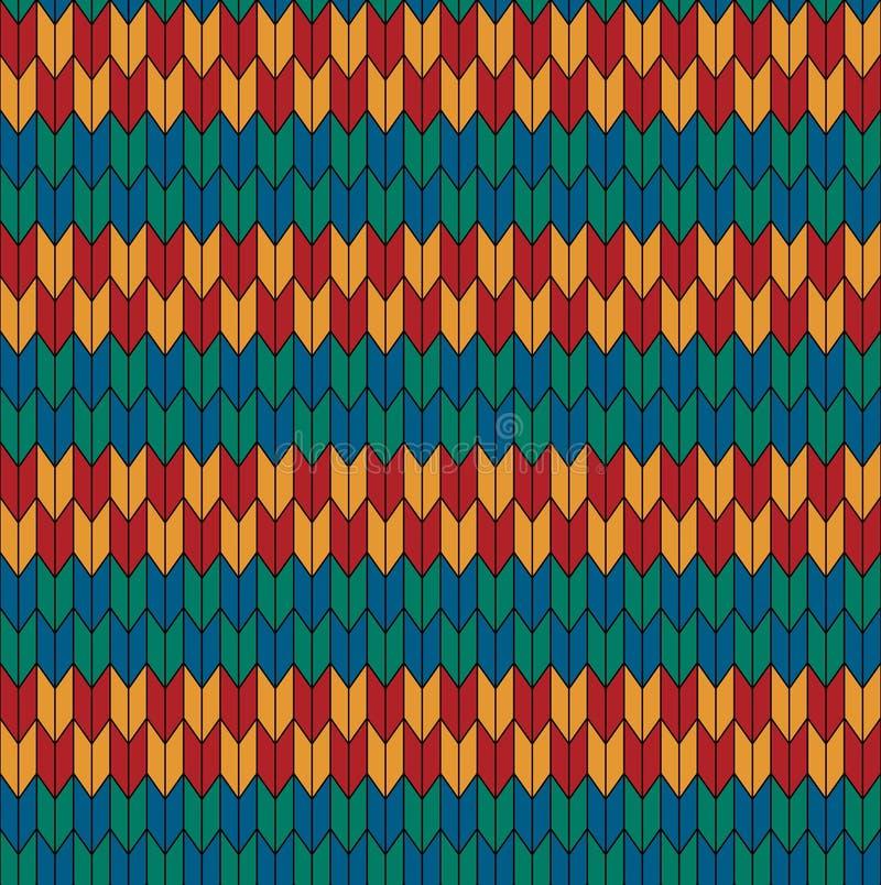 Seamless geometric pattern. Red blue green yellow pattern royalty free illustration