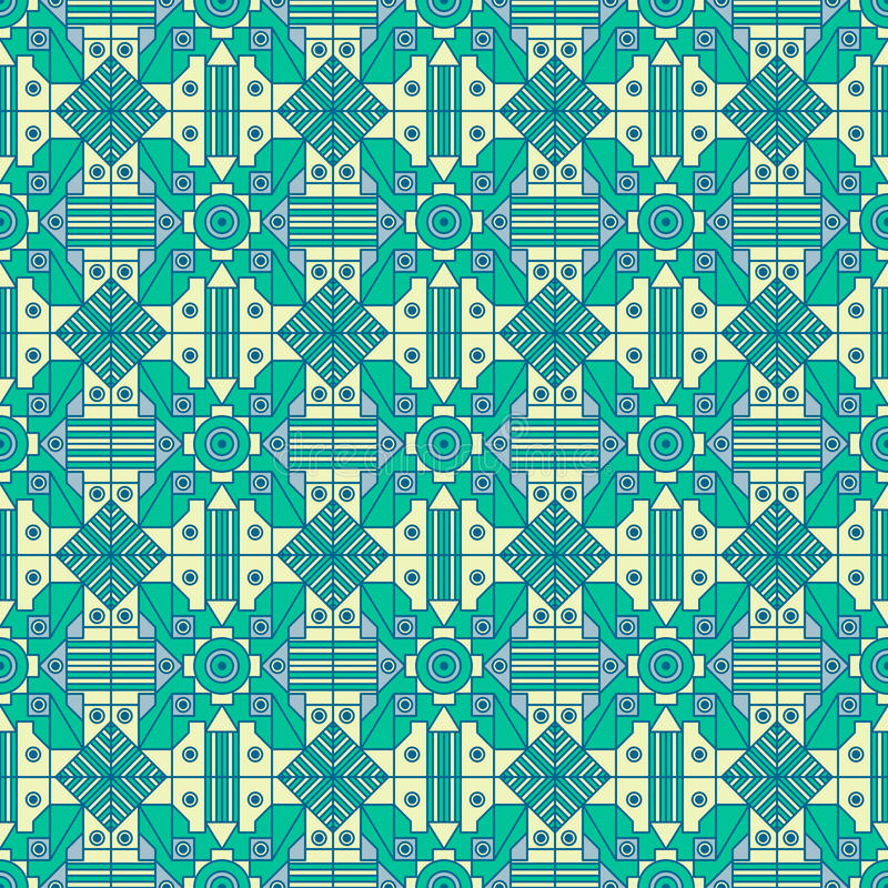 Seamless geometric pattern with simple line and forms creating exclusive look royalty free stock images