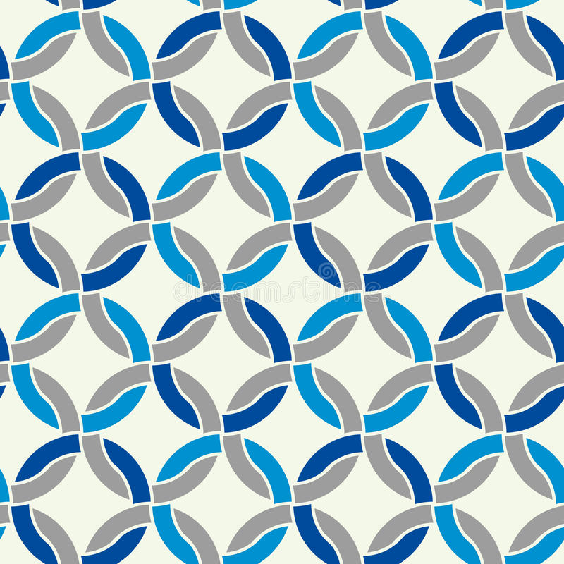 Seamless Geometric Pattern, Simple Vector Black And White