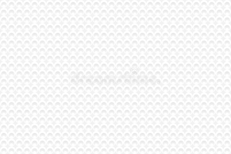 Seamless geometric pattern of small circles. Abstract white and gray gradient background, similar to knitted texture. royalty free illustration