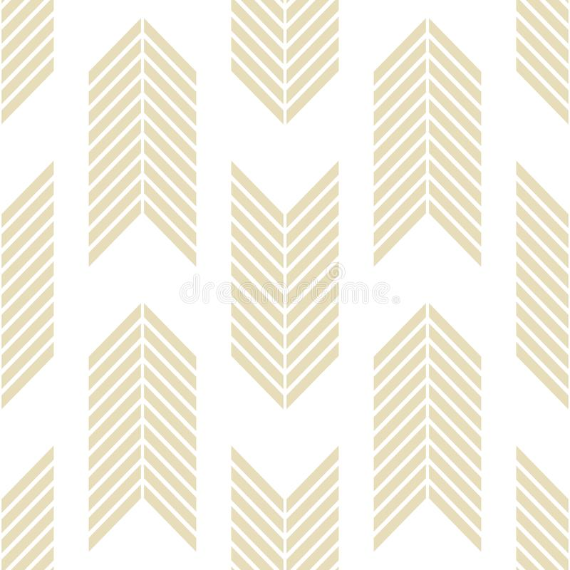Seamless geometric pattern with striped lines stock illustration
