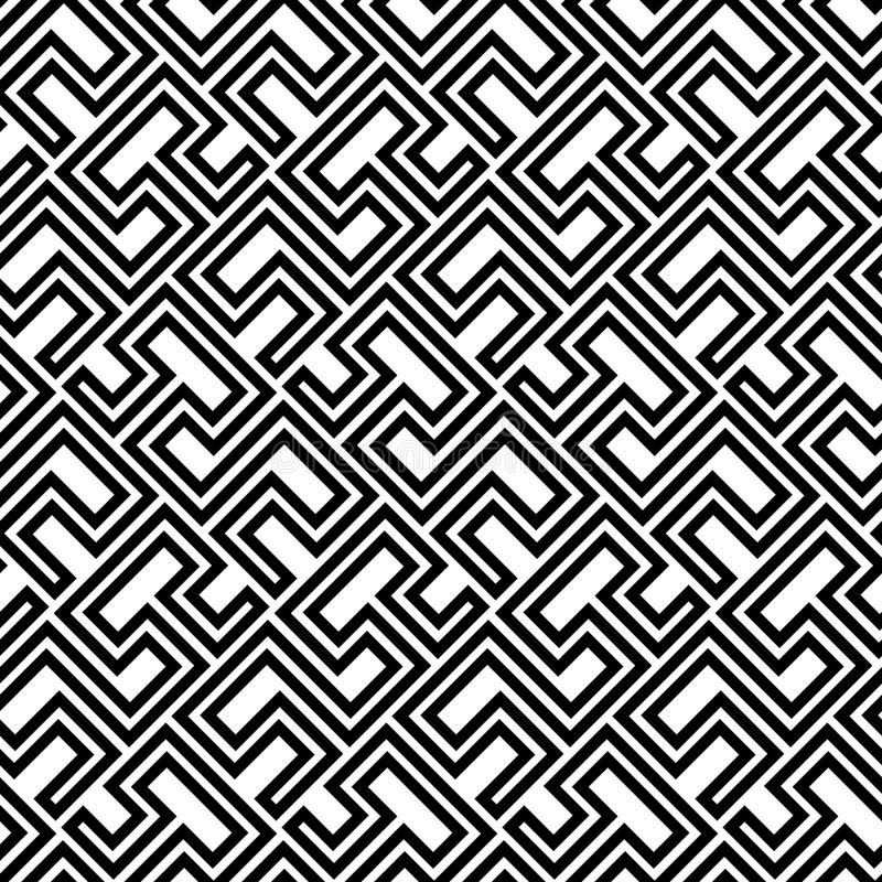 Seamless Geometric Pattern by Stripes vector illustration