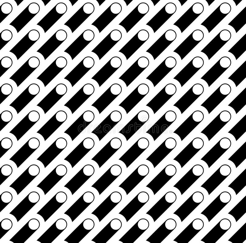 Seamless geometric pattern. Vector abstract repeating classical. Background in black and white color. Modern design with diagonal elements vector illustration