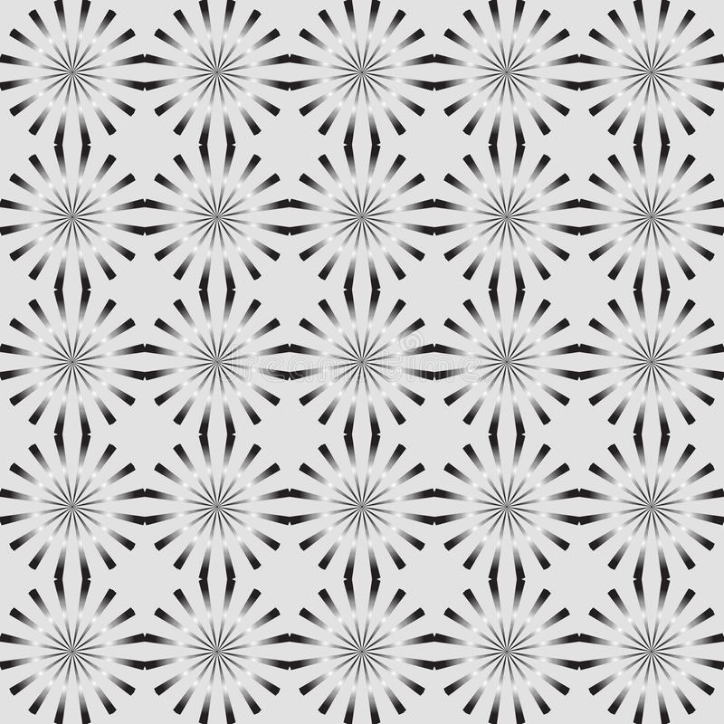 Seamless geometric pattern vector background lighted up shiny looking monochrome design abstract vintage retro art grey black whit stock illustration