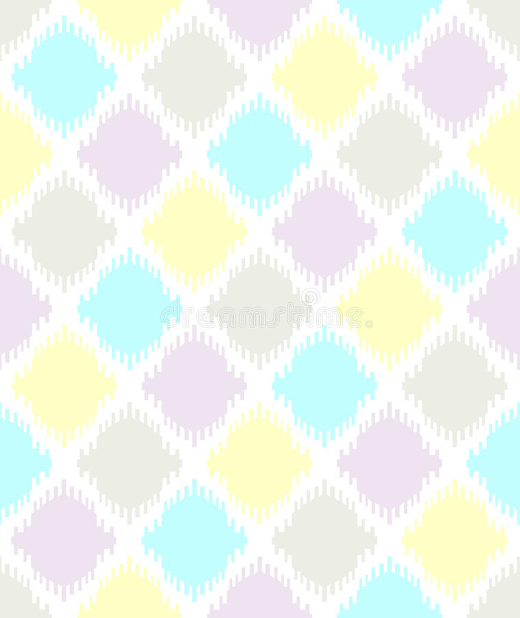 Seamless geometric pattern vector Ikat looking traditional ethnic vintage retro design royalty free illustration