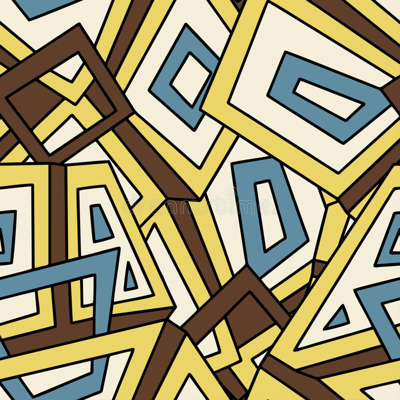 Seamless geometric pattern in vintage style. For fashion, textile, cloth, backgrounds. Vector ornament. Decorative tiles. royalty free illustration