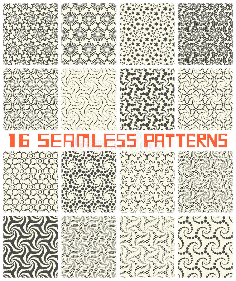 Seamless Geometric Patterns. Abstract Wrapping Background Set vector illustration