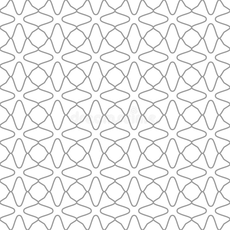 Seamless geometric patterns set. Grey and white texture for your design. stock illustration