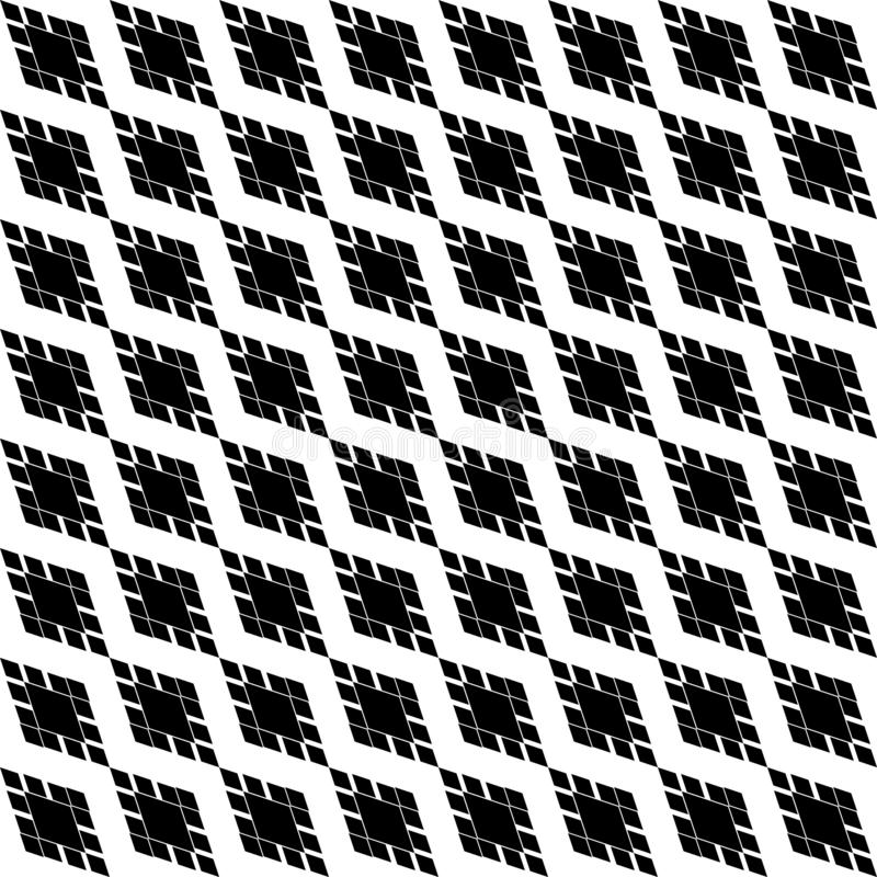 Black and white diagonal Geometric texture with rhombuses. Diamonds seamless pattern. SEAMLESS, GEOMETRIC REPEAD,PRINTING .BED SHEET, ,DOMESTIC PATTERN, DESIGN vector illustration
