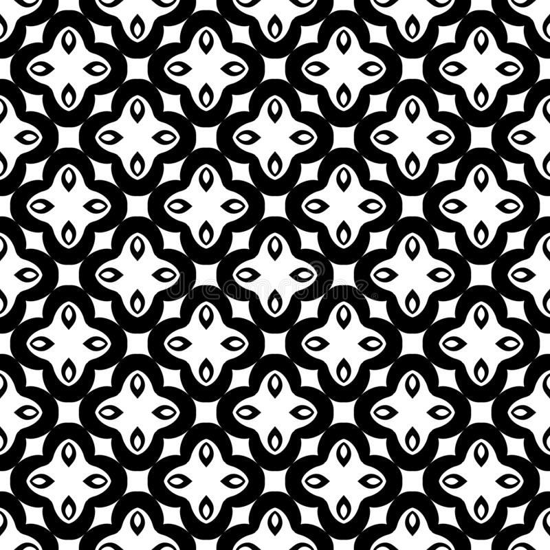 Black and white seamless repeated geometric art pattern background. Textile, books. SEAMLESS, GEOMETRIC REPEAD,PRINTING .BED SHEET, ,DOMESTIC PATTERN ,SMALL stock illustration