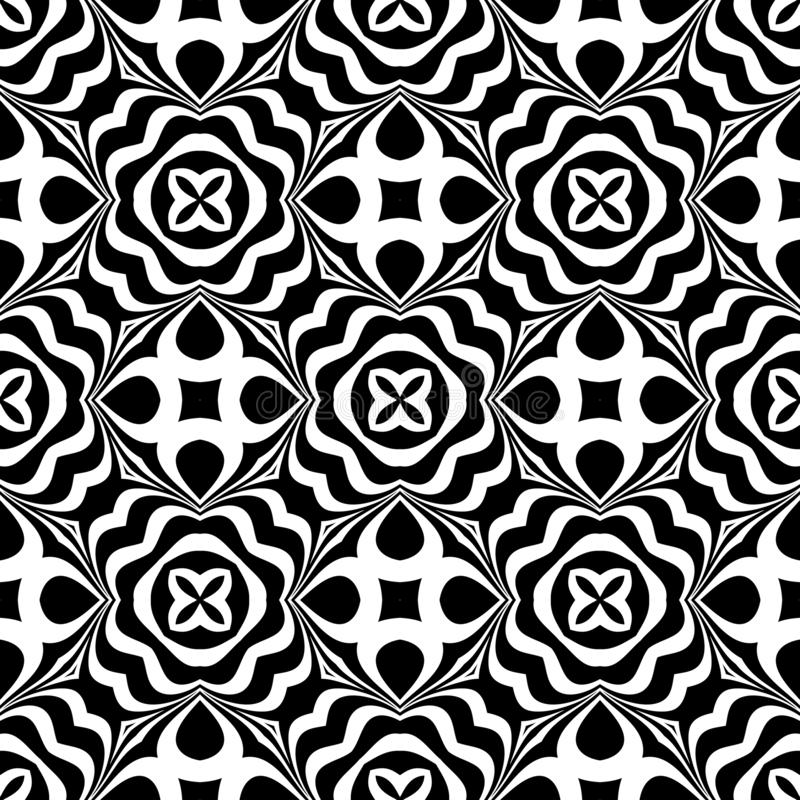 Black and white seamless repeated geometric art pattern background. Textile, books. SEAMLESS, GEOMETRIC REPEAD,PRINTING .BED SHEET, ,DOMESTIC PATTERN ,SMALL royalty free illustration