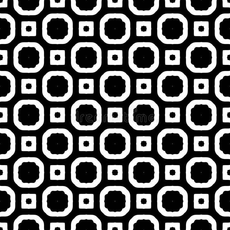 SEAMLESS BLACK AND WHITE GEOMETRIC PATTERN. SEAMLESS, GEOMETRIC REPEAT ,PRINTING .BED SHEET, ,DOMESTIC PATTERN ,SMALL ELEMENT, DESIGN, ROOF TEXTURE BACKGROUND royalty free illustration