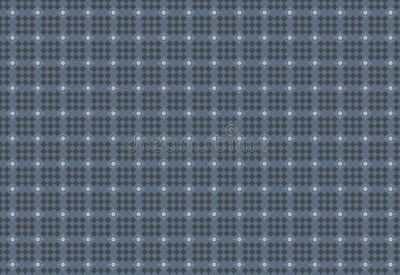 Seamless geometric square and circle pattern. Gray royalty free illustration