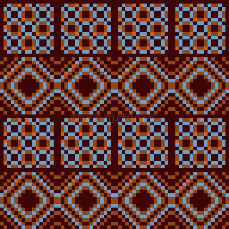 Pixel Geometric Texture Stock Vector. Illustration Of