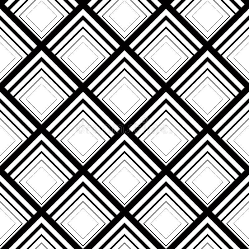 Seamless geometric vector background, simple black and white stripes vector pattern, accurate, editable and useful background for vector illustration