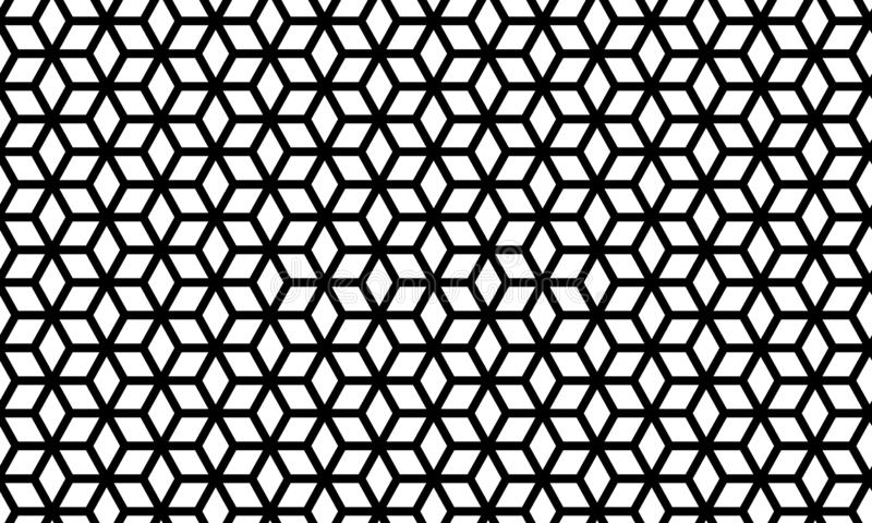 Seamless geometric vector background, simple black and white stripes vector pattern, accurate, editable and useful background for. Seamless geometric vector royalty free illustration