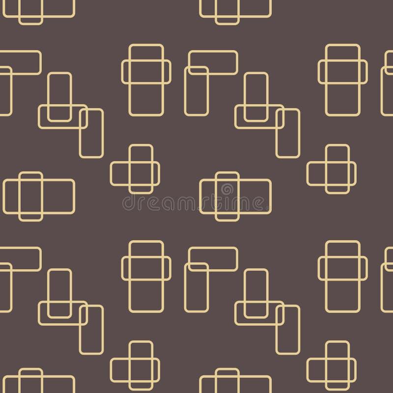 Seamless Geometric Vector Background royalty free illustration