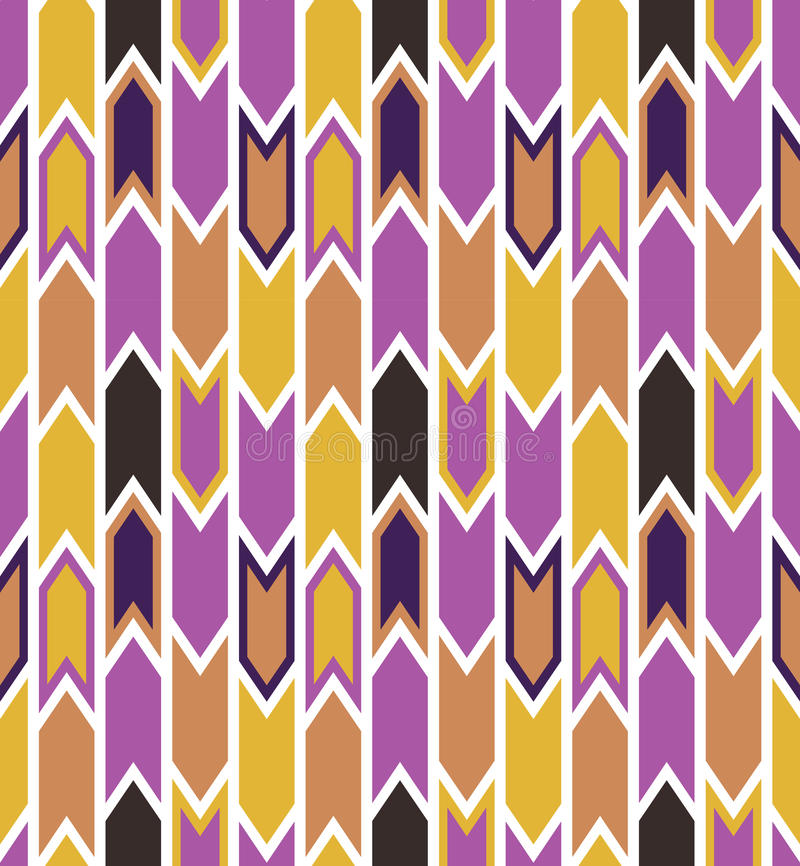 Seamless geometric vector pattern with arrows. Abstract background vector illustration