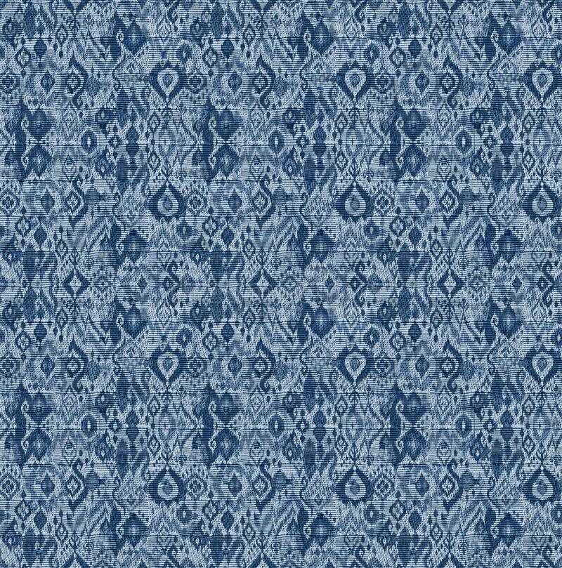 Seamless geometrical design pattern with indigo color. Texture background vector illustration