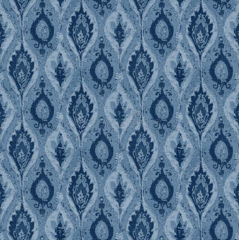 Seamless geometrical design pattern with indigo color. Texture background royalty free illustration