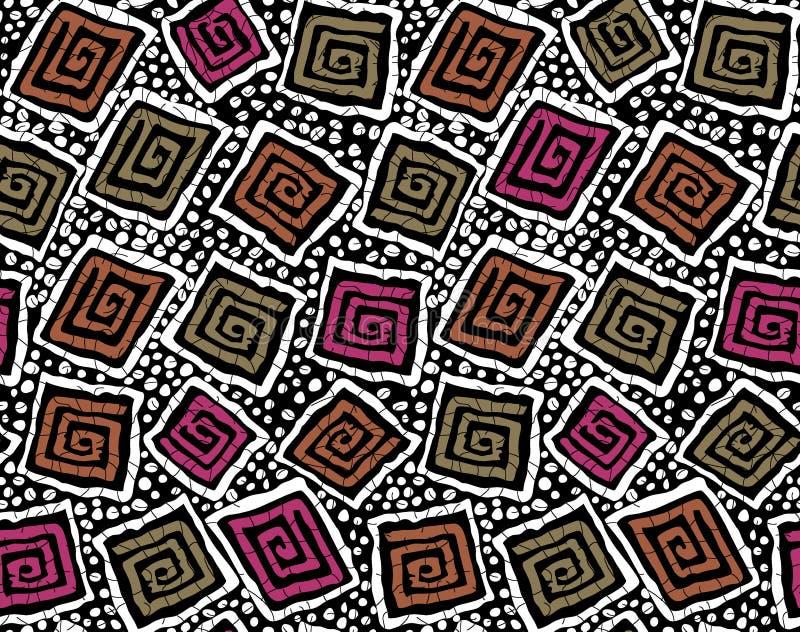 Seamless geometrical pattern royalty free illustration