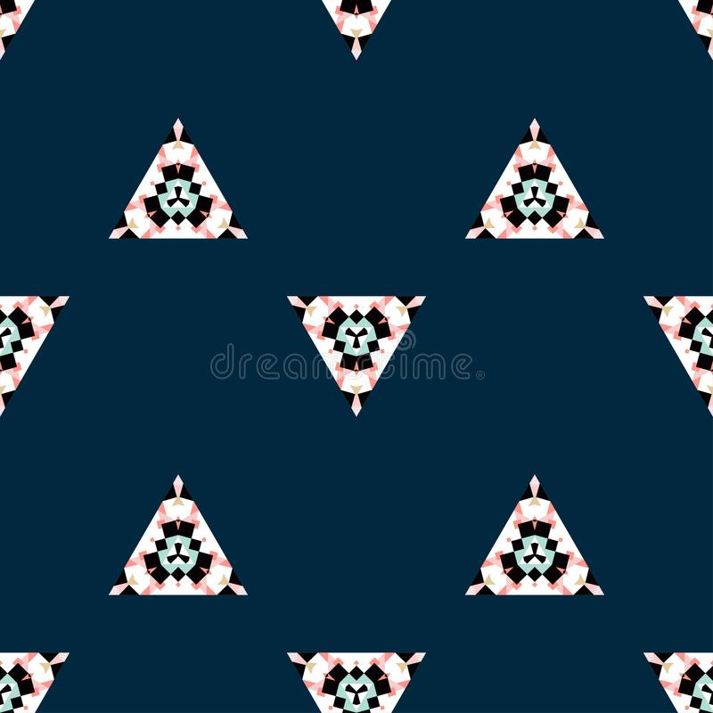 Navy tribal seamless pattern royalty free stock images
