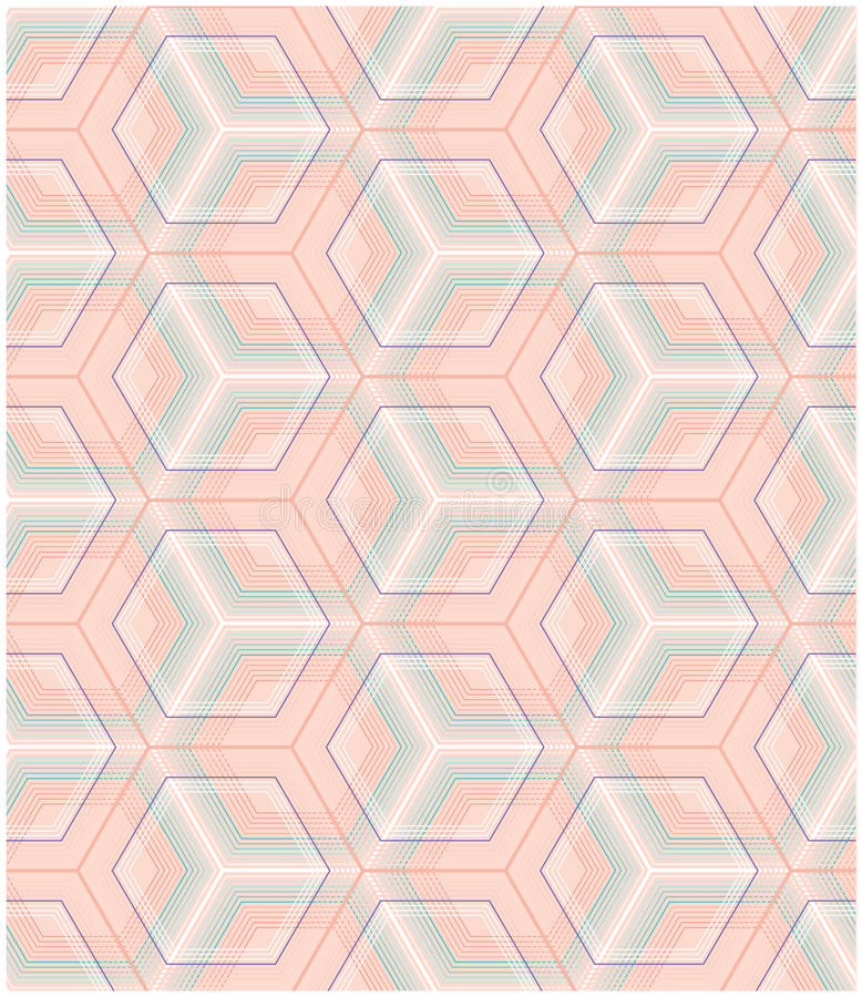 Seamless geometrical pattern. May be useful for print, fabric, tapestry,craftsmanship, scrap-booking etc. Vector illustration royalty free illustration