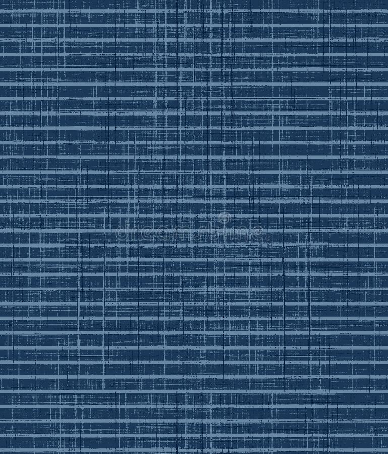 Seamless geometrical stripe design pattern with indigo color. Texture background vector illustration