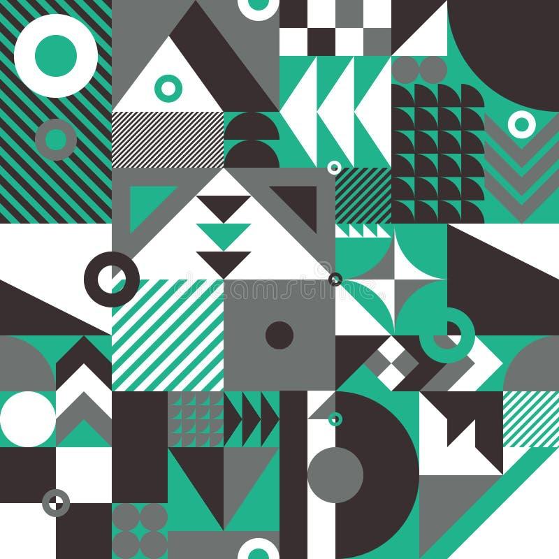 seamless geometrisk modell royaltyfri illustrationer