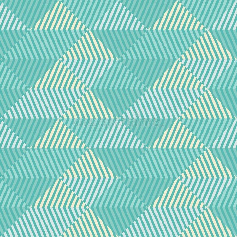 seamless geometrisk modell En modell av band Klottra textur stock illustrationer