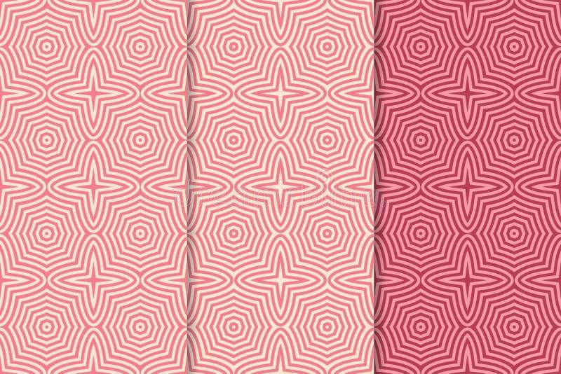 seamless geometrisk modell färgad bakgrund stock illustrationer