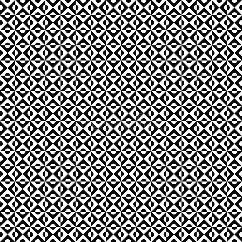 Seamless geometrisk modell för vektor abstrakt textur Svartvit bakgrund Monokrom design vektor illustrationer