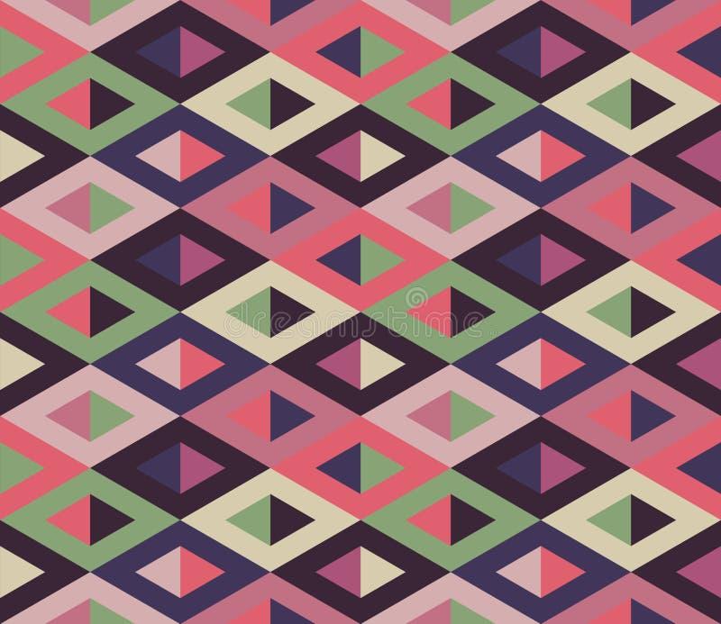 seamless geometrisk modell Geometriskt enkelt tryck Vektor som upprepar textur stock illustrationer