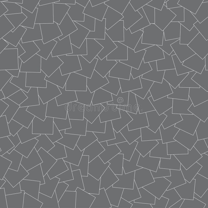seamless geometrisk modell Grå textur med vita linjer stock illustrationer