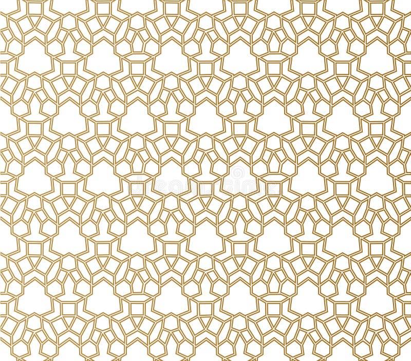seamless geometrisk modell islamisk modell arabisk östlig prydnad, indisk prydnad, persiskt motiv, 3D ramadan kareem stock illustrationer