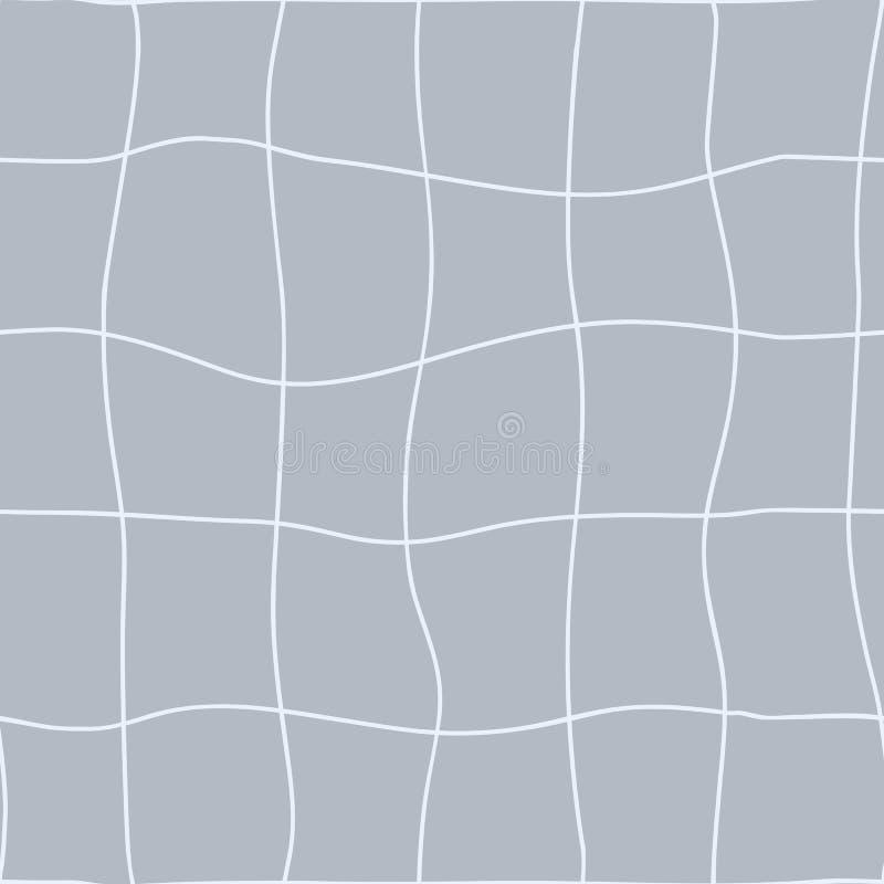 seamless geometrisk modell Krabb hand prack linjer av netto Vektor som upprepar textur med krökningeffekt stock illustrationer