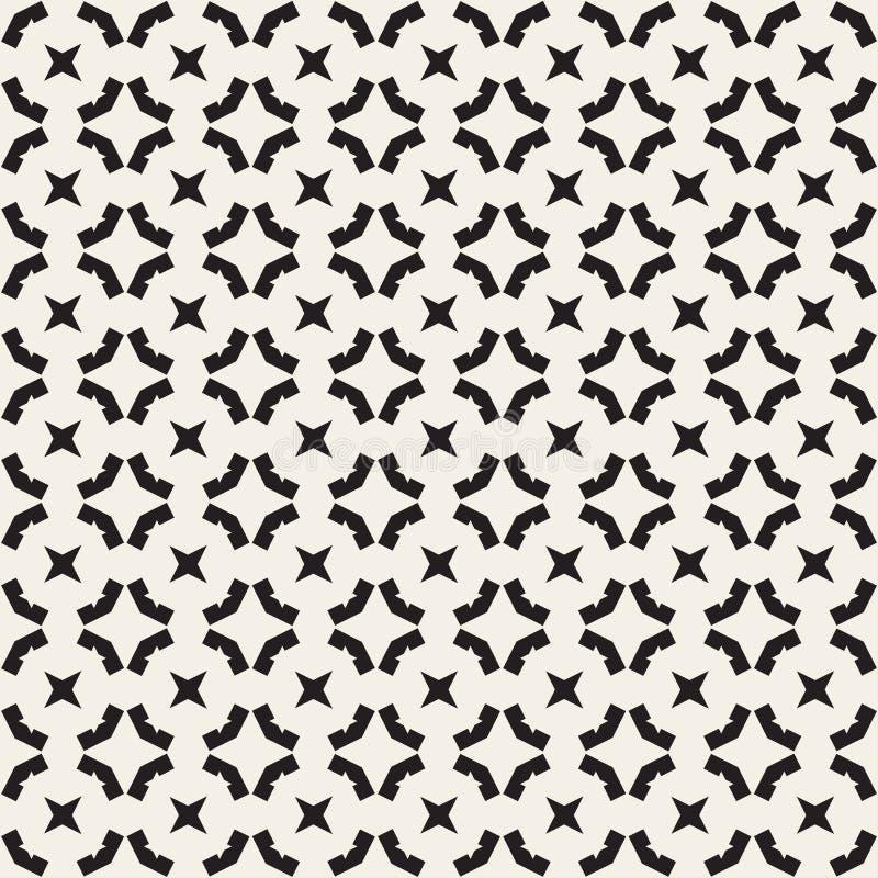 seamless geometrisk modell Monokromen texturerar vektor illustrationer