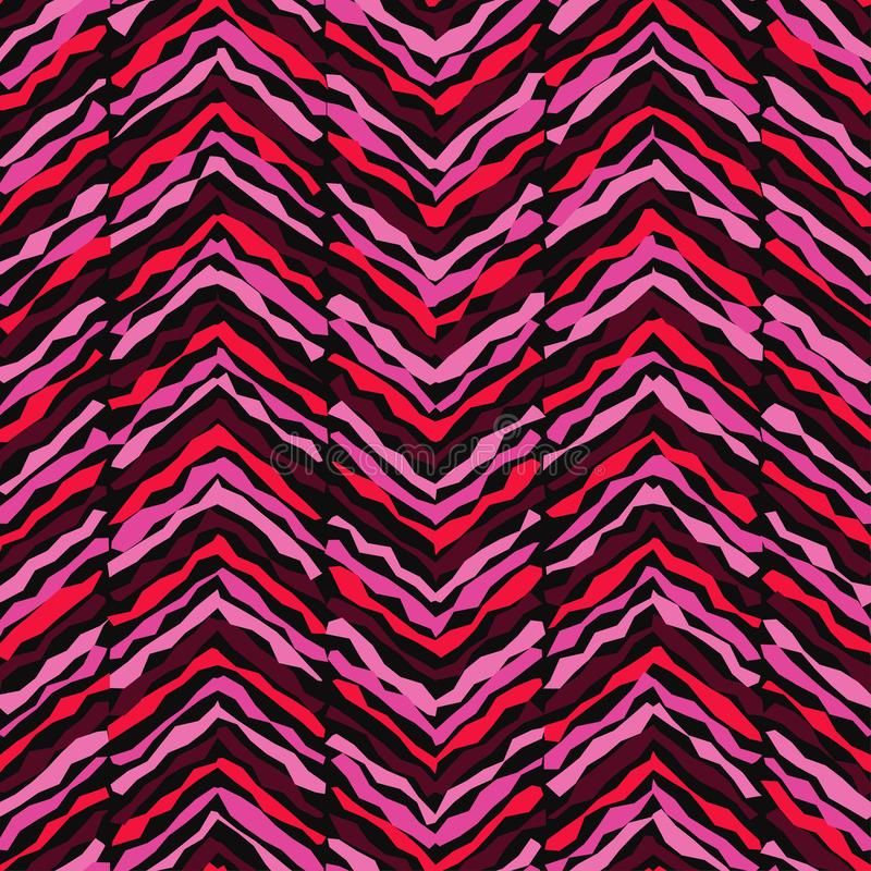 seamless geometrisk modell Textur av virvlande runt band Klottra textur vektor illustrationer