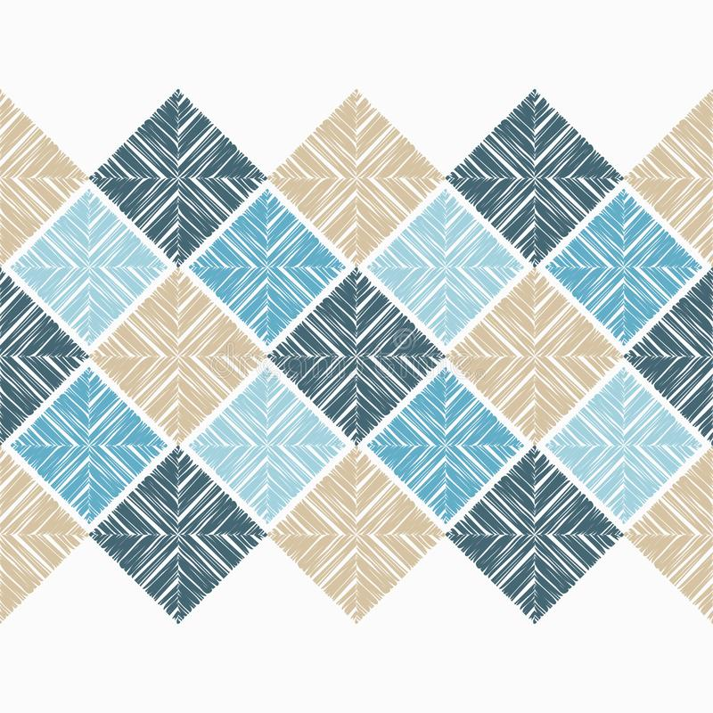 seamless geometrisk modell Texturen av rektanglarna Klottra textur royaltyfri illustrationer