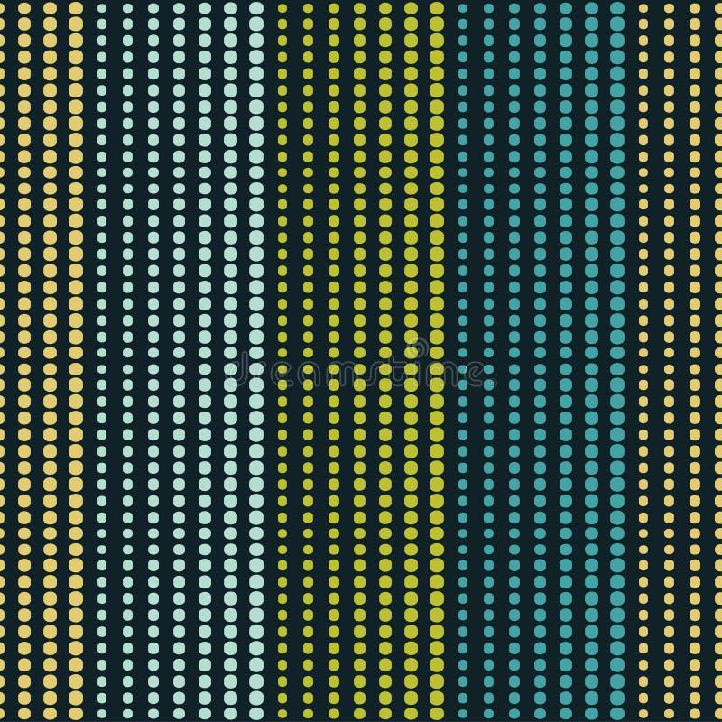 seamless geometrisk modell Texturen av remsorna på punkter Klottra textur royaltyfri illustrationer