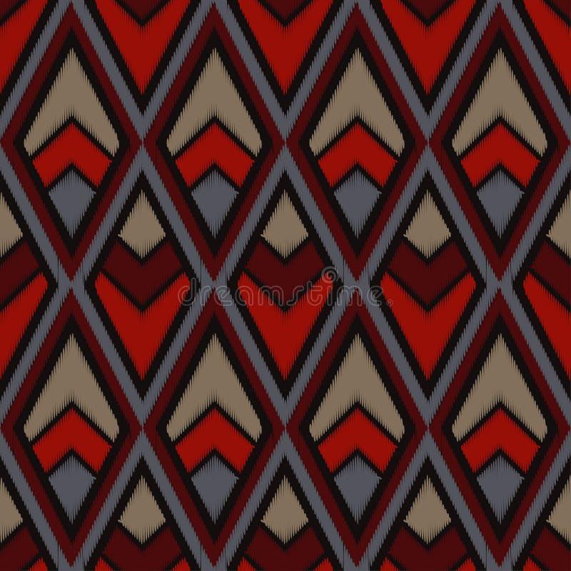seamless geometrisk modell Texturen av romben färgrikt broderityg Klottra textur stock illustrationer