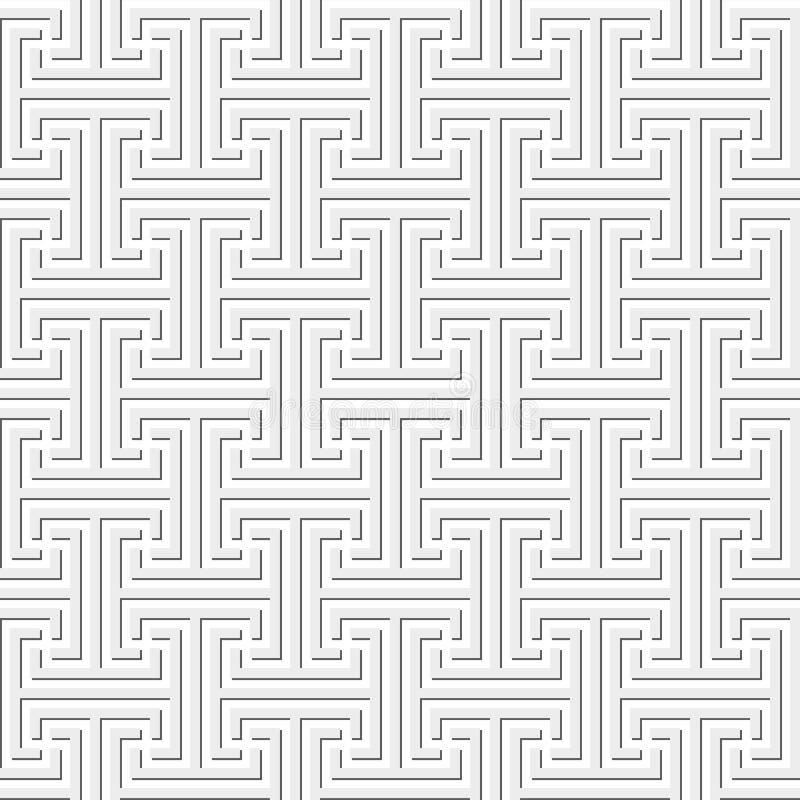 Seamless geometriskt nyckel- mönstrar stock illustrationer