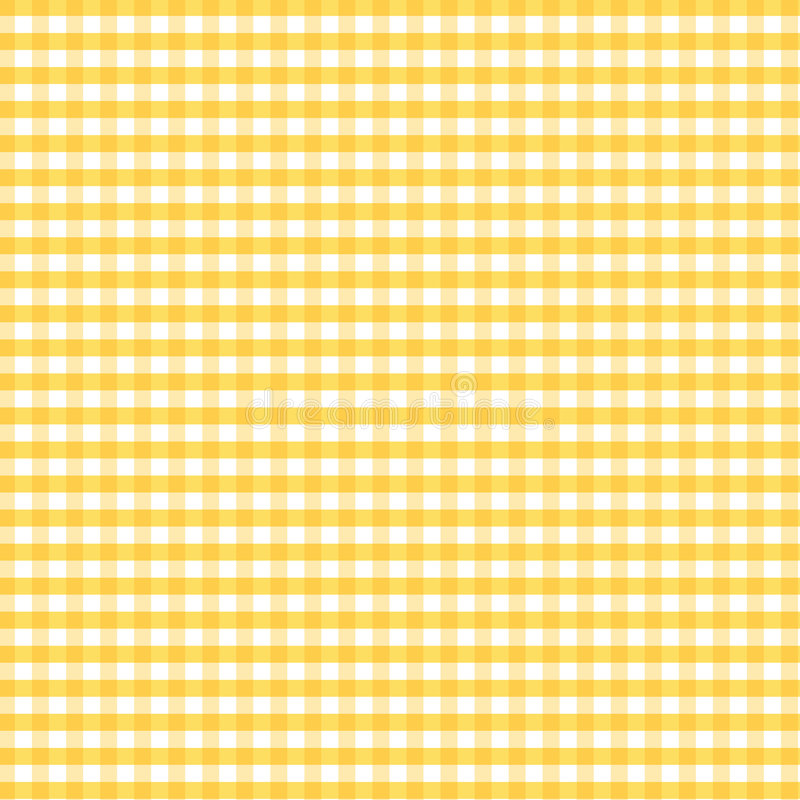 Download Seamless Gingham, Golden Yellow Stock Vector - Image: 5712499