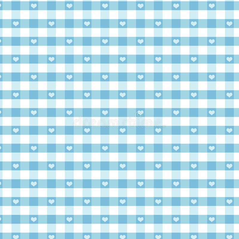 Download Seamless Gingham & Hearts, Pastel Aqua Stock Vector - Image: 5772090