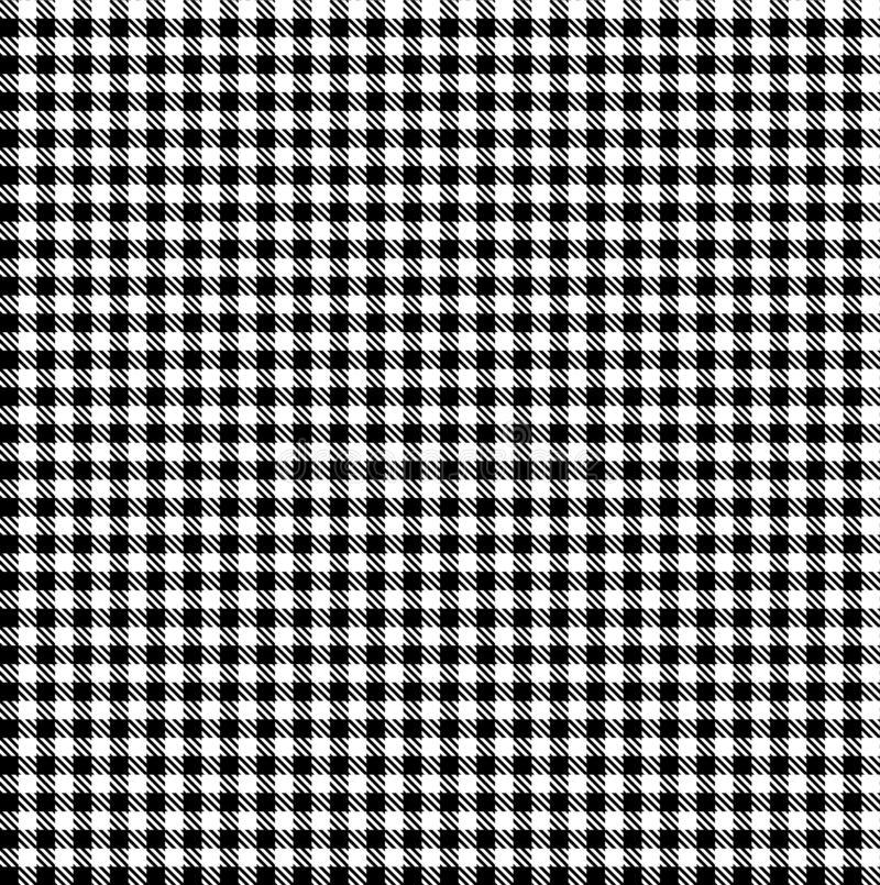Gingham Black and White Seamless Pattern. Seamless gingham picnic table pattern. Great for rustic décor, summertime parties, wintertime get-togethers, and royalty free stock photography