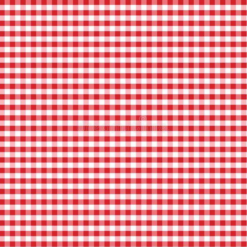 Seamless Gingham Background, Red stock illustration